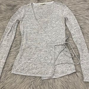 Aritzia Wilfred Free Wrap Long Sleeve Top